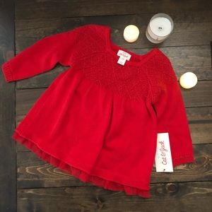 NWT Cat & Jack Red Sweater Dress
